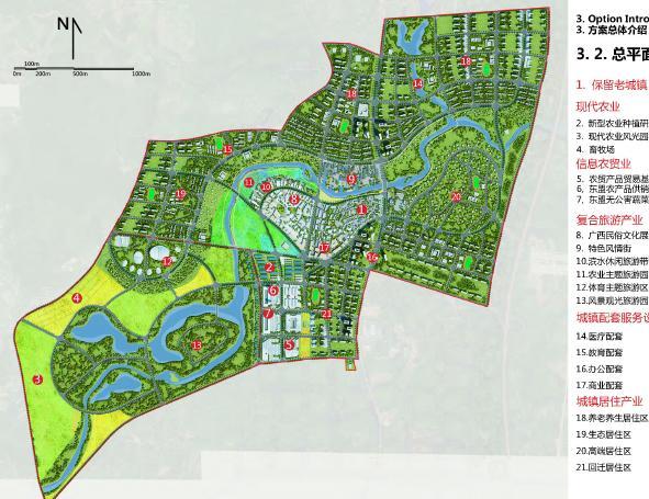 南宁那马镇那马新城概念性总体规划设计2013——索杰图片