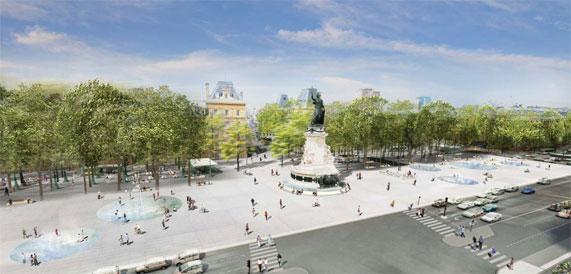 巴黎共和国广场景观设计-优80设计空间