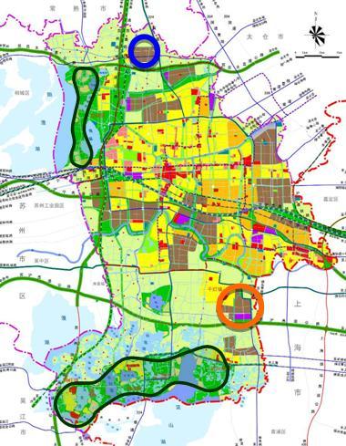 江苏昆山市城市总体规划讨论稿——上规院