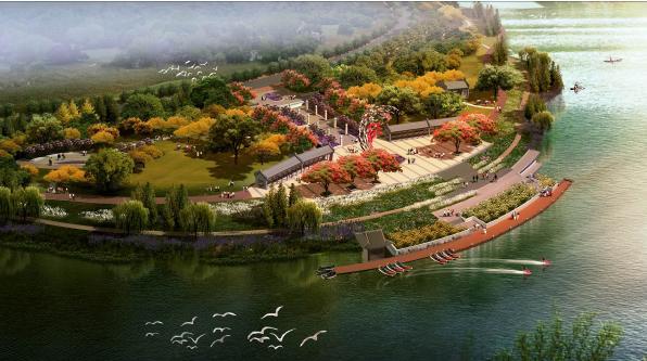 公园-金山渔歌效果图-惠州金山湖公园项目景观方案设计2013 城邦园