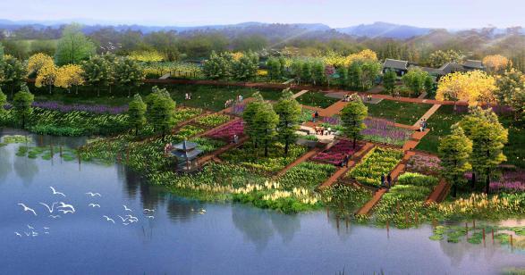 公园-湿地花园效果图-惠州金山湖公园项目景观方案设计2013 城邦园