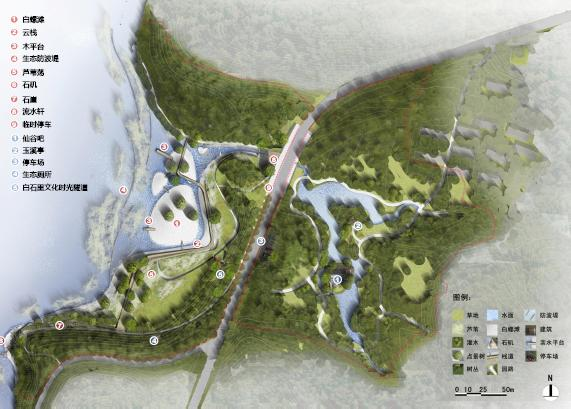 无锡山水城西路白石里节点景观设计2010——清华院院