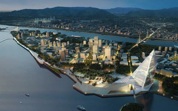 舟山群岛新区小干岛商务区城市设计国际方案2012