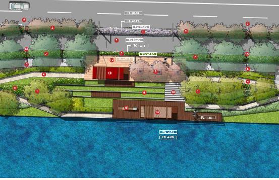内容包括道路周边景观,内河景观,滨水游园的景观设计及大量效果图
