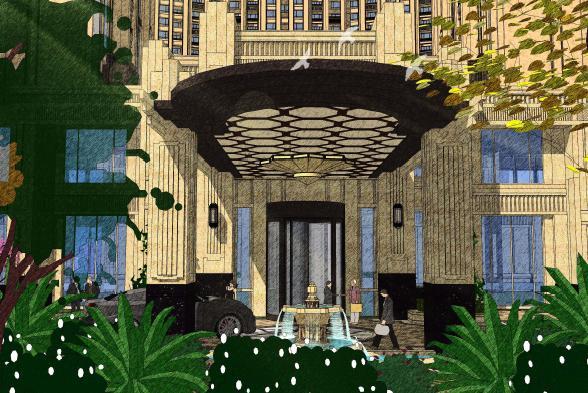 保利房产申花56#地块景观规划方案设计——安道国际