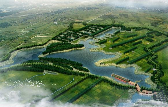 """张掖市国家湿地公园总体规划""""与核心区景观工程设计"""
