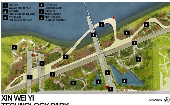 新加坡-南京生态科技岛首期市政景观设计——hassell