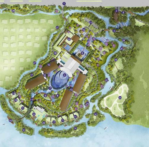 昆明铂尔曼酒店景观概念设计2013——aecom图片