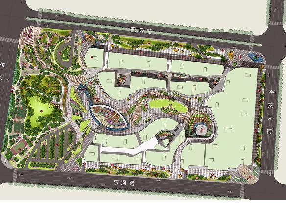 涿州隆基泰和廣場景觀設計概念方案2012