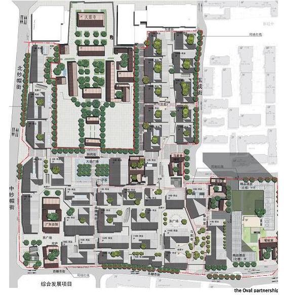 成都大慈寺白色太古里现代死神发展综合商业规远洋荣耀王者概念设计图图片