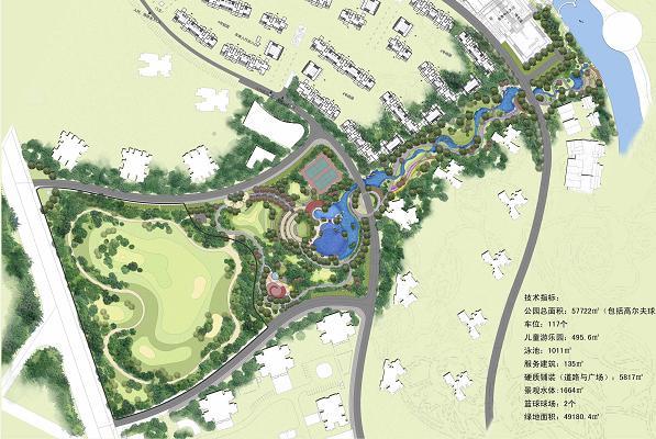 海棠香国历史文化风情城中央公园景观设计方案图片