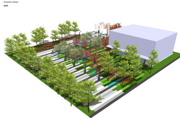 平面图,透视图,详细空间设计,座椅设计,种植平面,植物设计