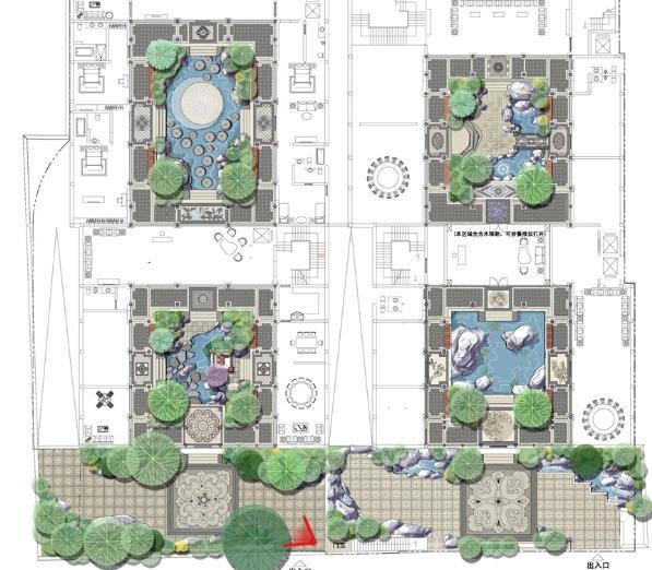 北京私人四合院中式庭院景观设计2010——山水比德图片