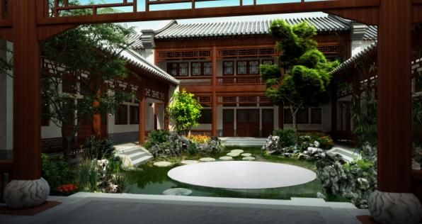 北京私人四合院中式庭院景观设计2010——山水比德