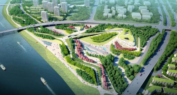 概念规划及景观规划(设计说明,基地分析,设计策略),概念规划平面(滨水
