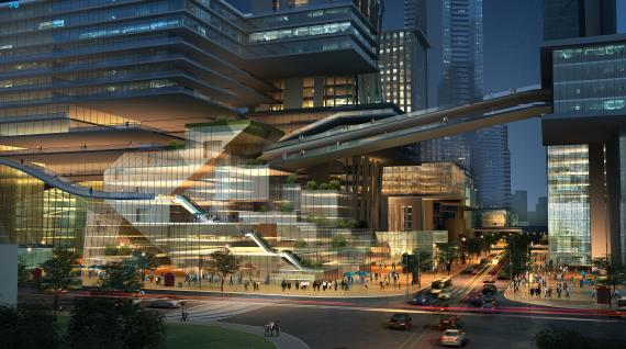 深圳市罗湖蔡屋围核心区城市概念设计+建筑概念设计+城市形像设计最终