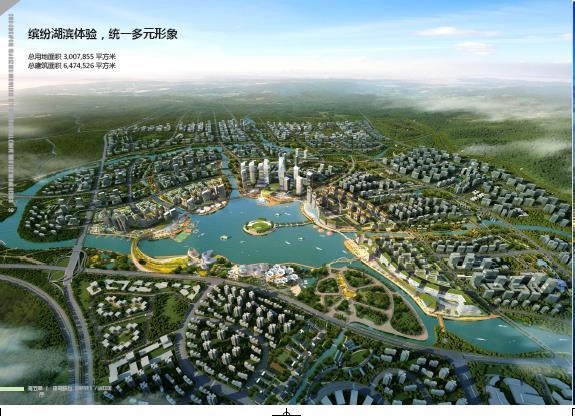 中新广州知识城核心区城市设计国际竞赛中标方案2013——广东省院图片