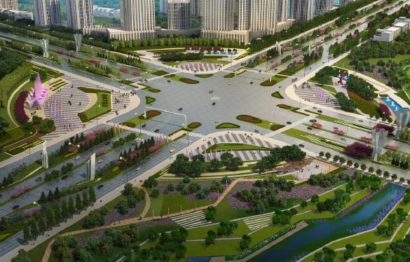 長德新區整體城市景觀起步區道路景觀設計方案