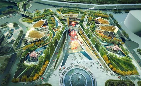 深圳万科龙城广场南区商业区屋顶花园景观设计方案——msp图片