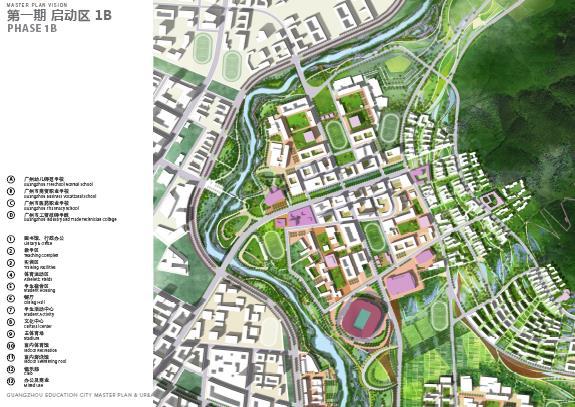 广州教育城总体规划和教育城一期城市设计竞赛——sasaki图片
