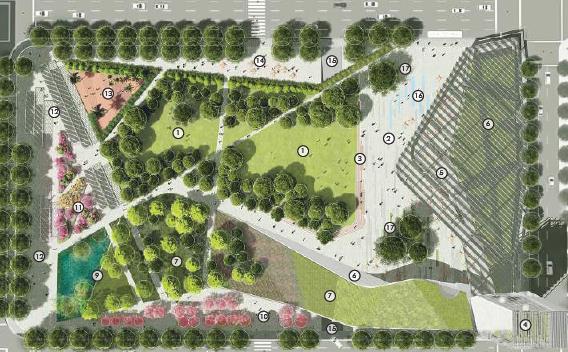 美國珀欣商業廣場景觀設計集2016