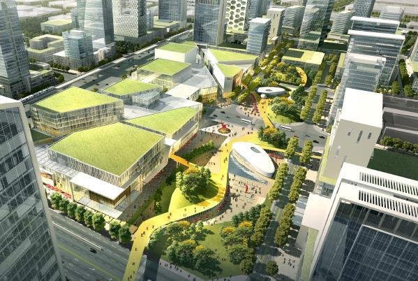 东莞南站片区城市设计国际竞赛 ——深规院图片
