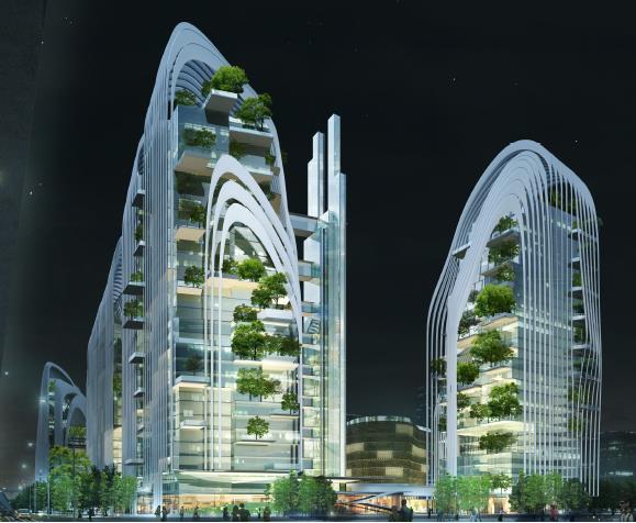 南京南站山水城市综合体规划设计2015