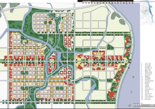 大雁塔广场 手绘地图