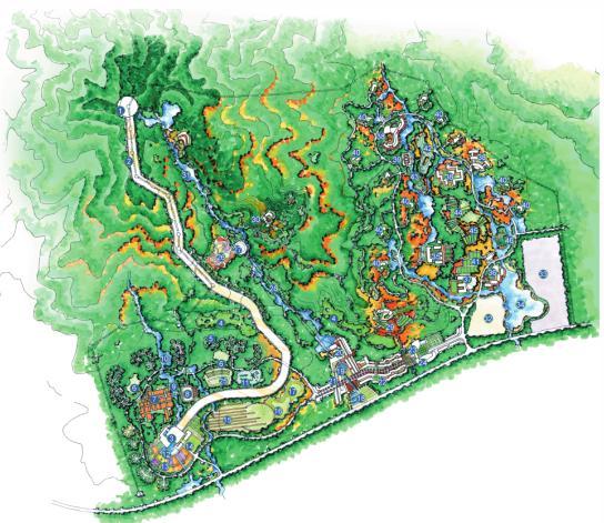 青岛胶南小珠山动漫主题公园概念规划2007-泛亚