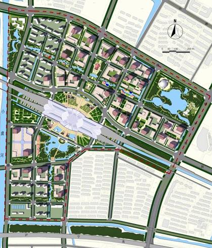 昆山开发区高铁站前商务区城市规划——四川易园