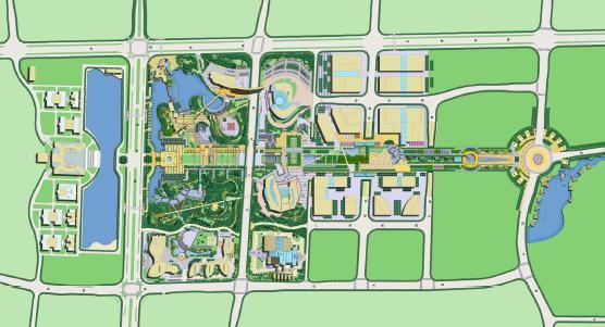 湘府文化公园生态景观轴景观设计