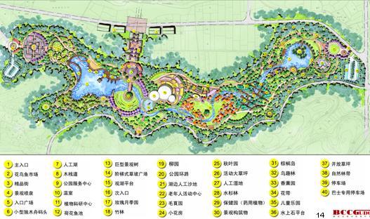 峨眉山市植物公园景观规划设计——中建国际
