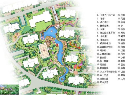 淮南斯瑞明珠城小区景观规划方案-城市设计信息网
