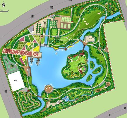设计——栖城国际; 哈尔滨兆麟公园平面图图片大全下