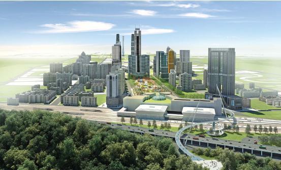 根据广州市政府的工作部署,广州新城市中轴线北段核心地区作为2010年亚运会展示广州新的城市形象与风貌重要地区。将通过城市设计整合现有城市基础设施,优化珠江新城及中轴线城市核心地区的开放空间,高水平、高标准地规划建设城市中心区,塑造具有岭南特色和国际风貌的城市形象。广州新城市中轴线北段核心地区城市设计范围:北起燕岭公园,南至电视塔广场,东至林和中路-体育东路-冼村路向东拓展200米,西至林和西路-体育西路-华夏路向西拓展200米,总用地面积约588公顷。 本次规划的一个主要设计思路来源于中国古画的卷轴,从北