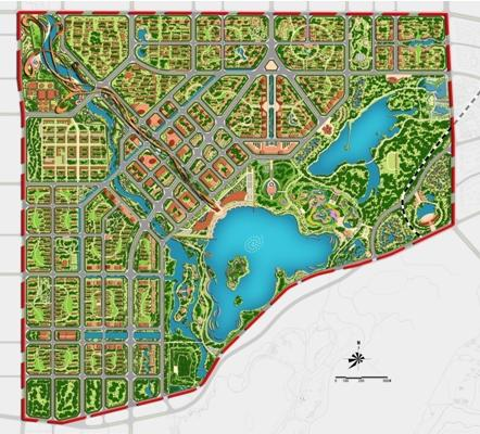唐山南湖生态城概念规划及起步区城市设计2008
