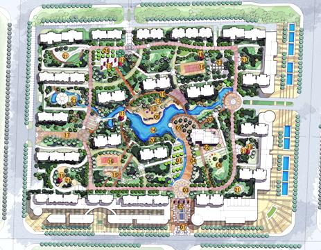 兖州文化新村住宅小区规划设计 优80设计空间 高清图片