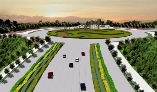 阳逻新城城市道路景观概念设计