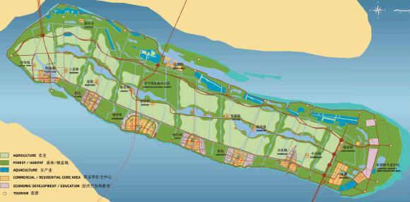交通绿岛手绘平面图