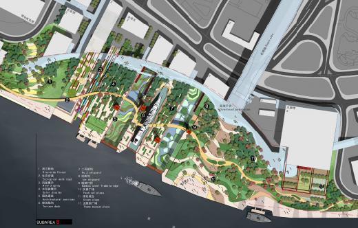 广场绿地节点手绘