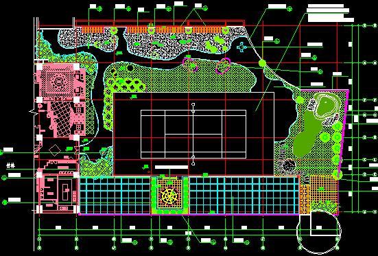 办公楼屋顶花园景观施工图-优80设计空间图片