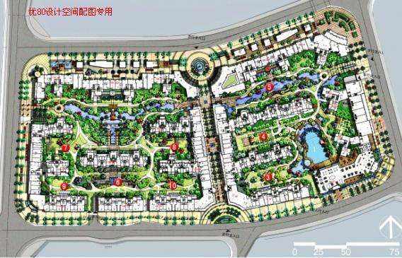 中山远洋城小鳌溪景观方案概念设计图片
