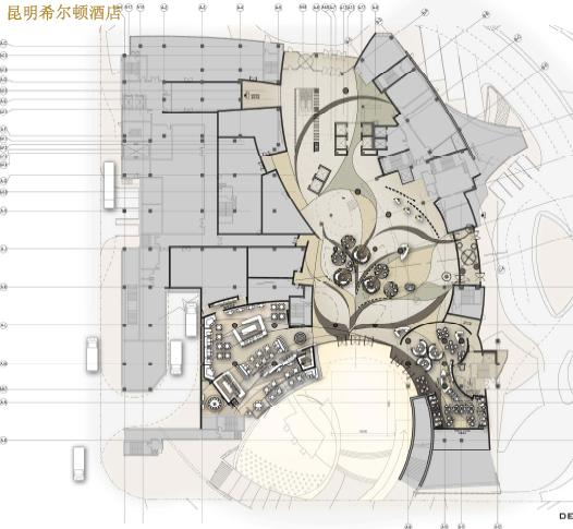 酒店一层大堂平面图; 酒店大堂设计平面图图片;