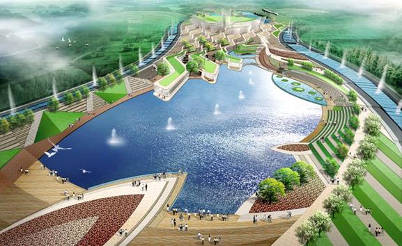青岛世界园艺博览会修建性详细规划中区天水地池方案2011