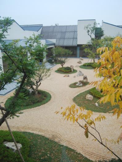 无锡灵山精舍枯山水庭院实景