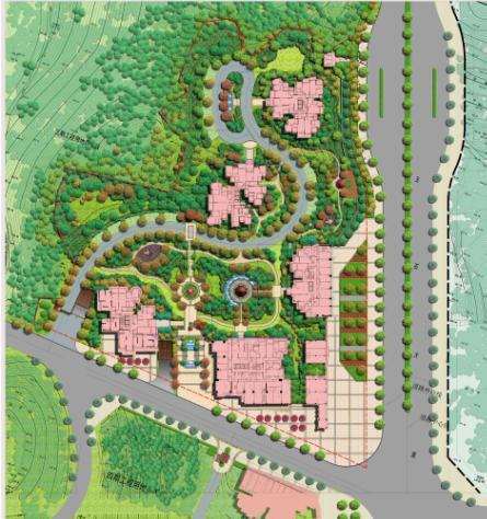 高级小区景观规划图