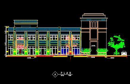 景观扩初施工图cad; 中心广场剖面图  (437x283); 九江居住区小区启动