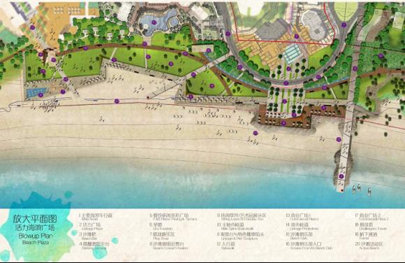 活力海滨广场平面图