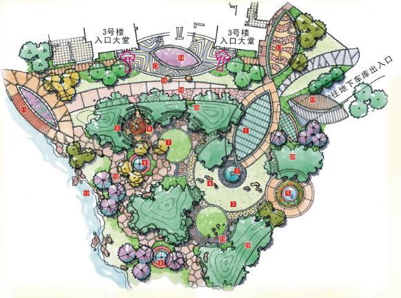 宅间内庭景观平面