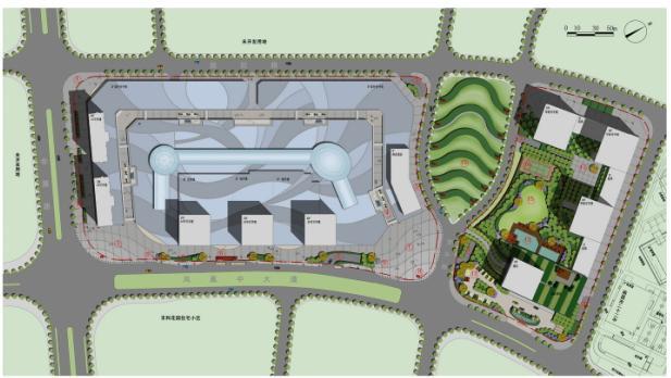 南昌红谷滩万达广场景观设计方案——万达商业规划研究院